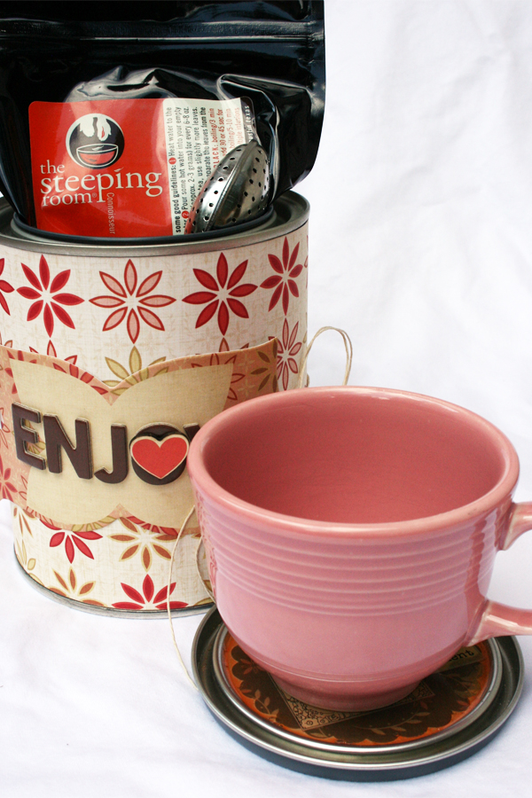 Paint can to tea with coaster | Cosmo Cricket