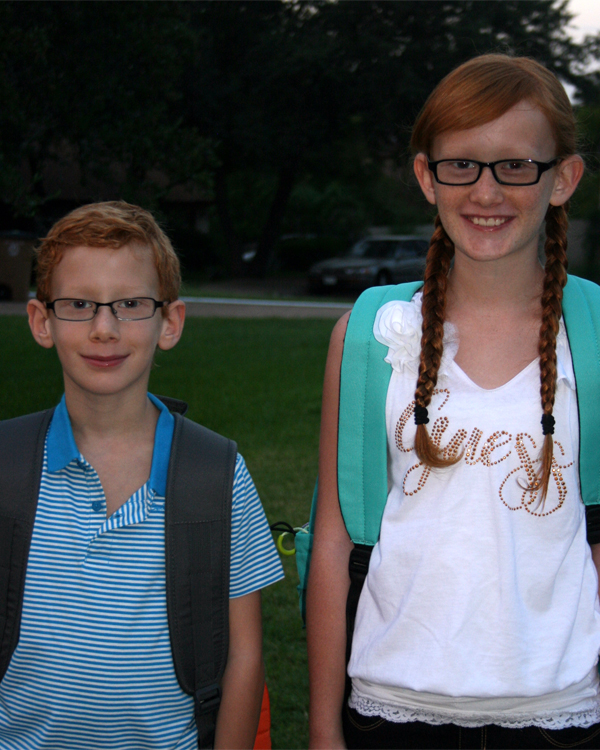 Jack and Abby first day
