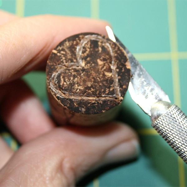 Making a cork stamp3