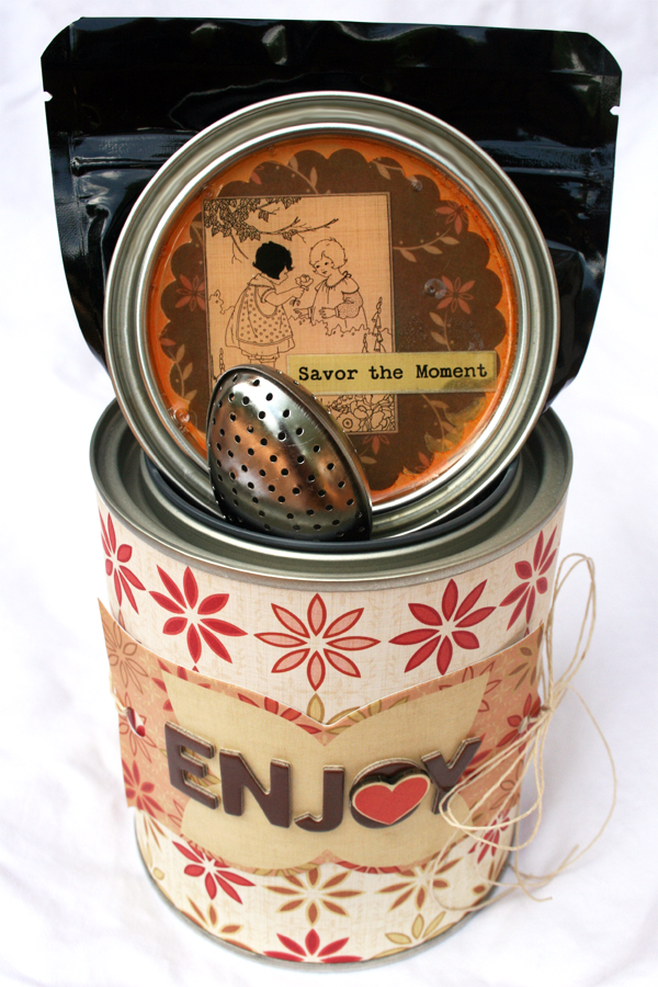 Paint can to tea gift basket | Cosmo Cricket