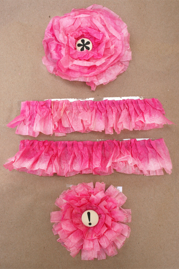 Ombre flowers & ruffles | Cosmo Cricket Glubers