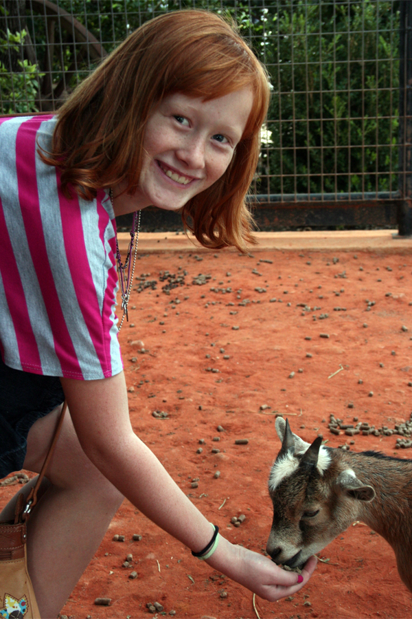Abby with goat