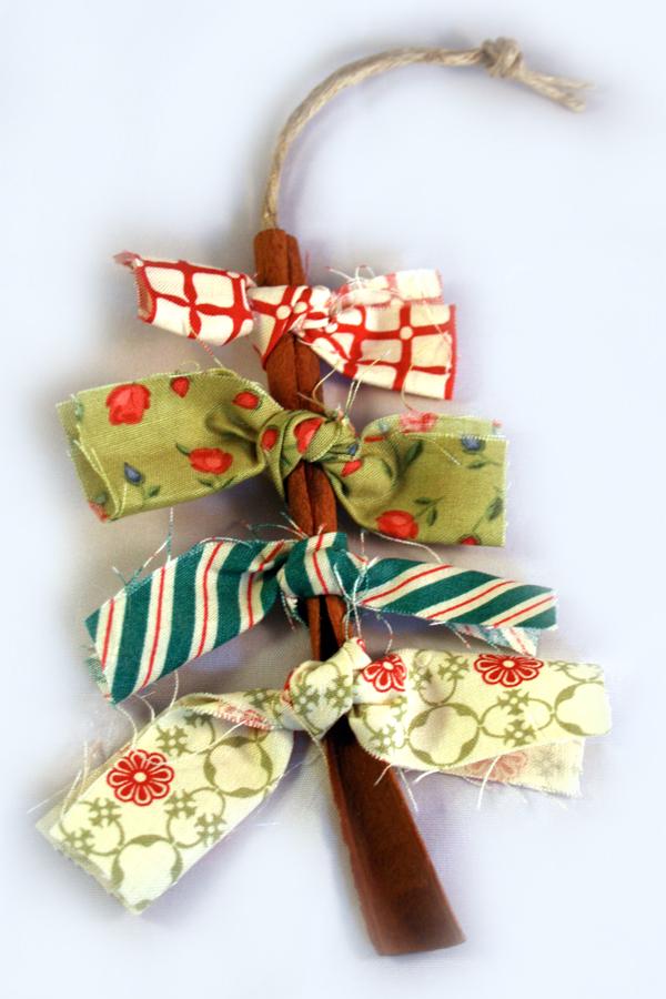 Cinnamon Stick Christmas Tree Ornaments - Cosmo Cricket Blog