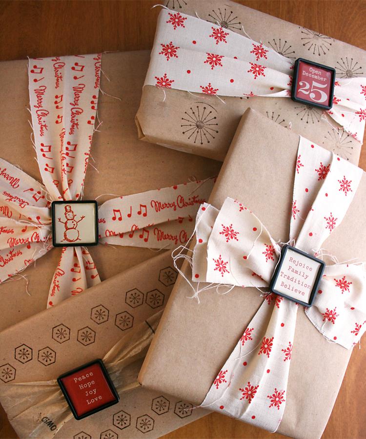 Fabric.Ribbon-slides.Kraft | Cosmo Cricket Gift Wrap