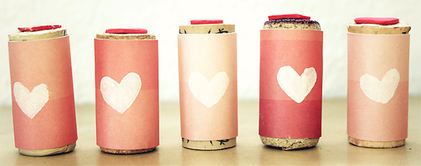 Wine Cork Foam Heart Valentines Stamps | Cosmo Cricket