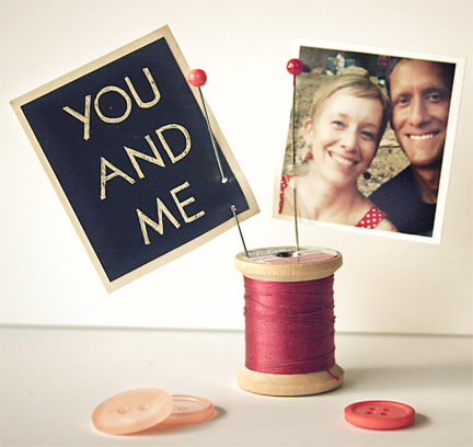 Valentine Craft Spool Photo Holder | Cosmo Cricket