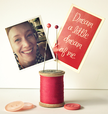 Valentine Craft | Spool Photo Holder | Cosmo Cricket