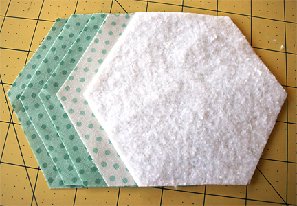 Making fabric hexagons | Julie Comstock