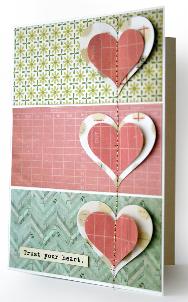 Heart Card | Julie Comstock for Cosmo Cricket