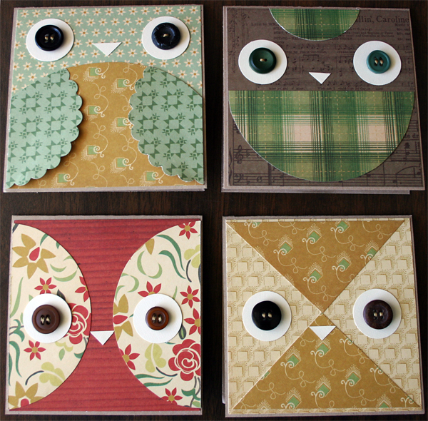 Owl Cards   Julie Comstock for Cosmo Cricket