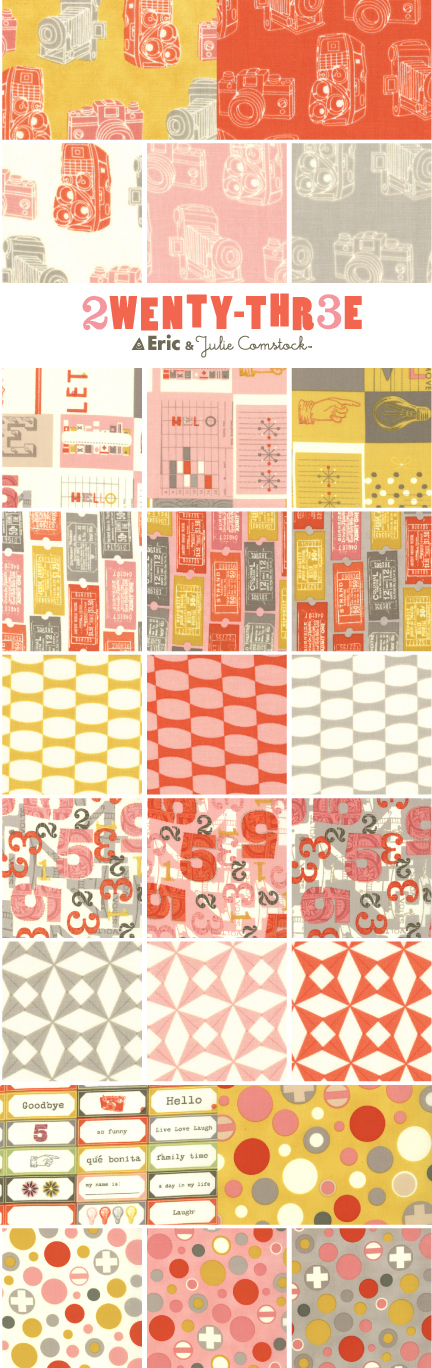 2TWNETY-THR3E fabric | Eric and Julie Comstock for Moda