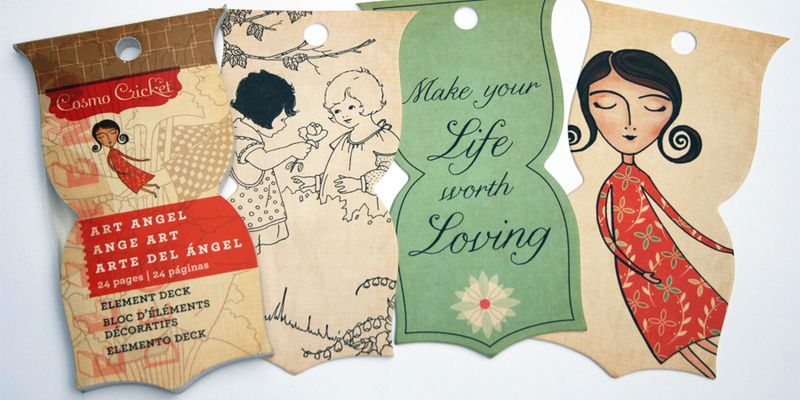 Art Angel Element Deck_cosmo cricket_tags