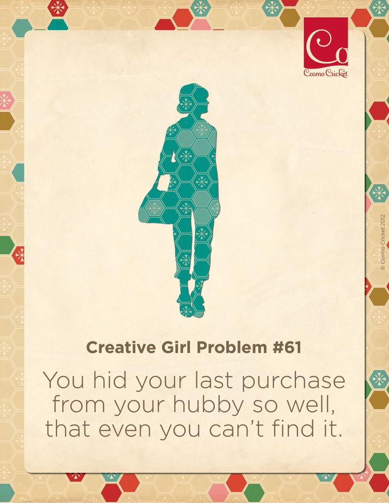Creative Girl Problem #61 | Cosmo Cricket
