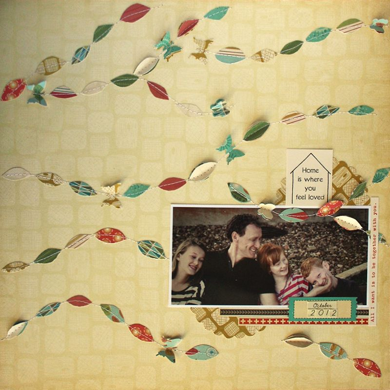 Autumn scrapbook layout   cosmo cricket   S'more Love