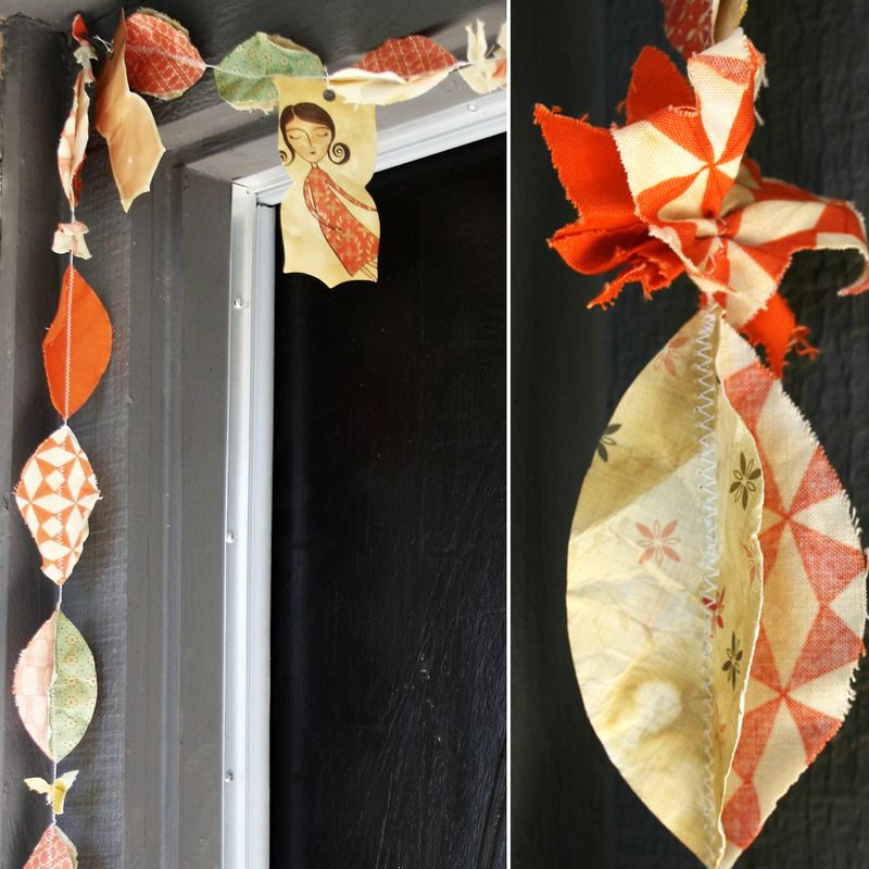 Paper & Fabric Garland |23 fabric| Cosmo Cricket