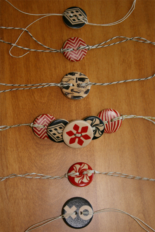 Wooden Button Bracelets 2   Cosmo Cricket