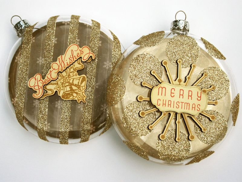 Ornaments glittered with Glubers