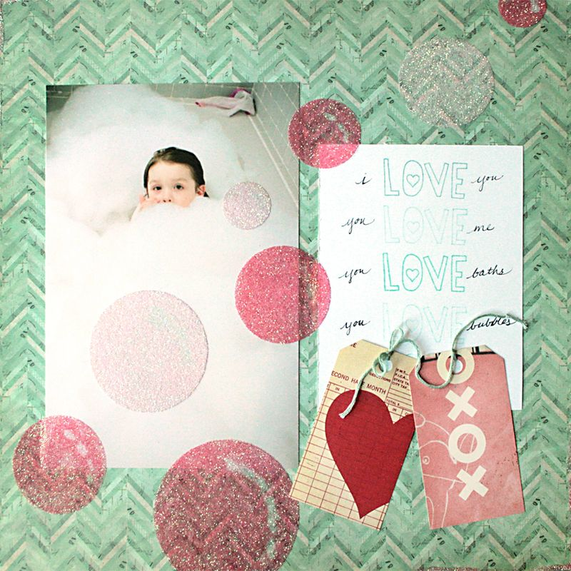 Bubble Love Layout | Julie Comstock | Cosmo Cricket | lres