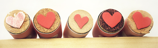 Cork and Foam Heart Valentines Stamps | Cosmo Cricket