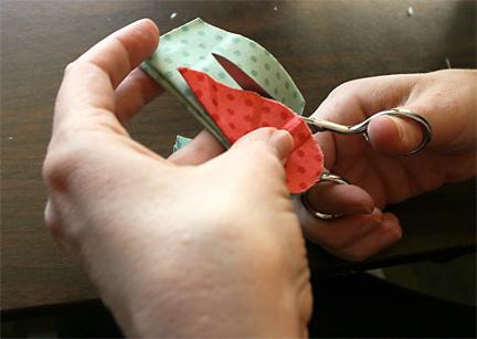 Cutting Heart in Hexagon | Julie Comstock