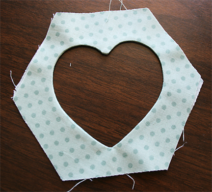 Pressing Reverse Applique Hexagon | Julie Comstock