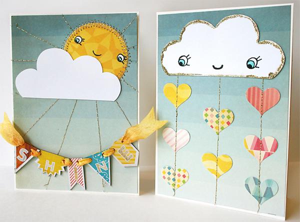 Rain and Shine Card Tutorial | Julie Comstock