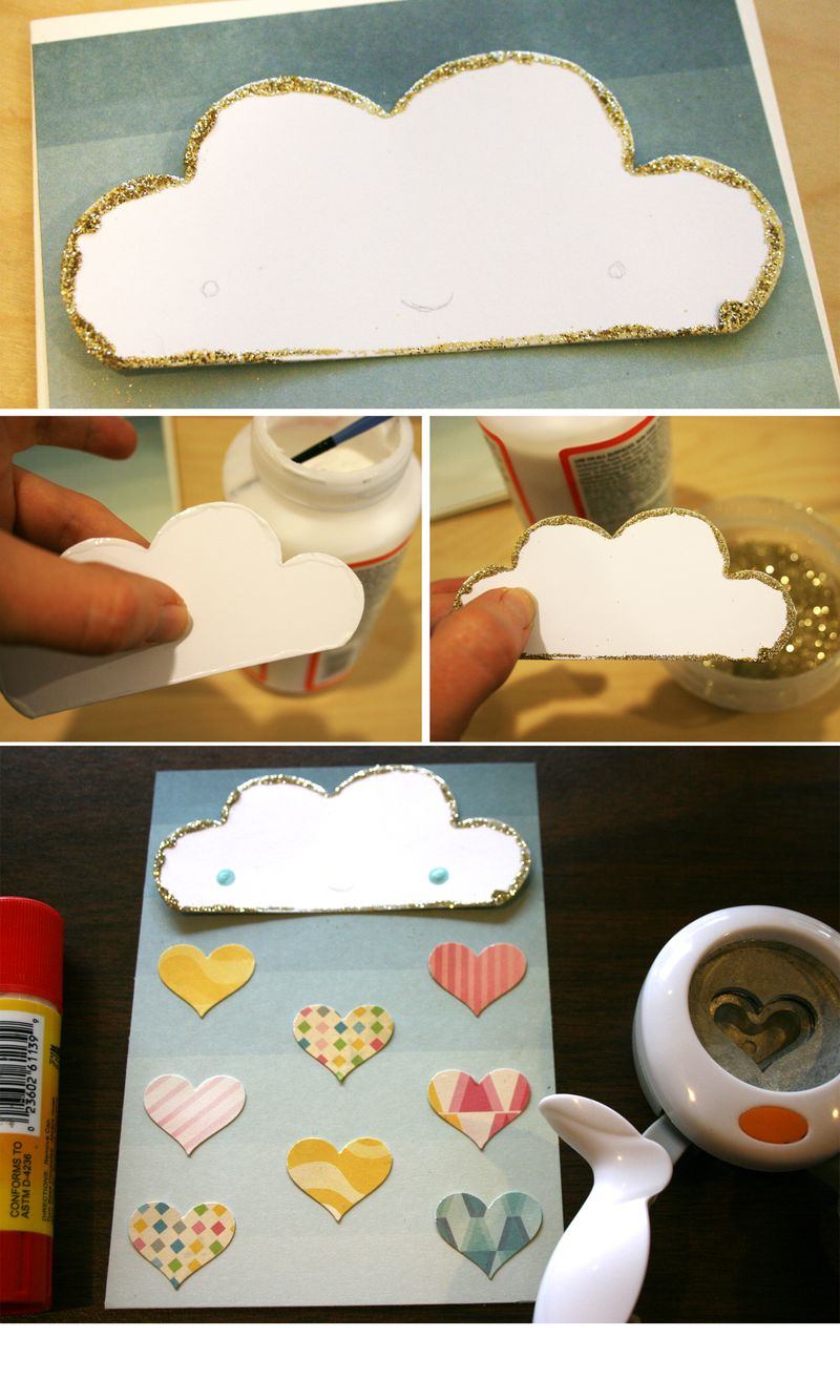 Making a Happy Rain Cloud Card | Julie Comstock