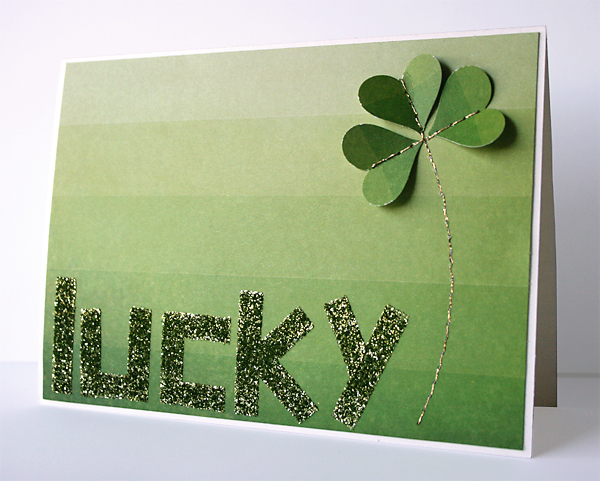St Patrick's Day Card | Julie Comstock for Cosmo Cricket