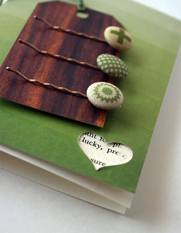 St Patrick's Day Hair Pin Card | Julie Comstock
