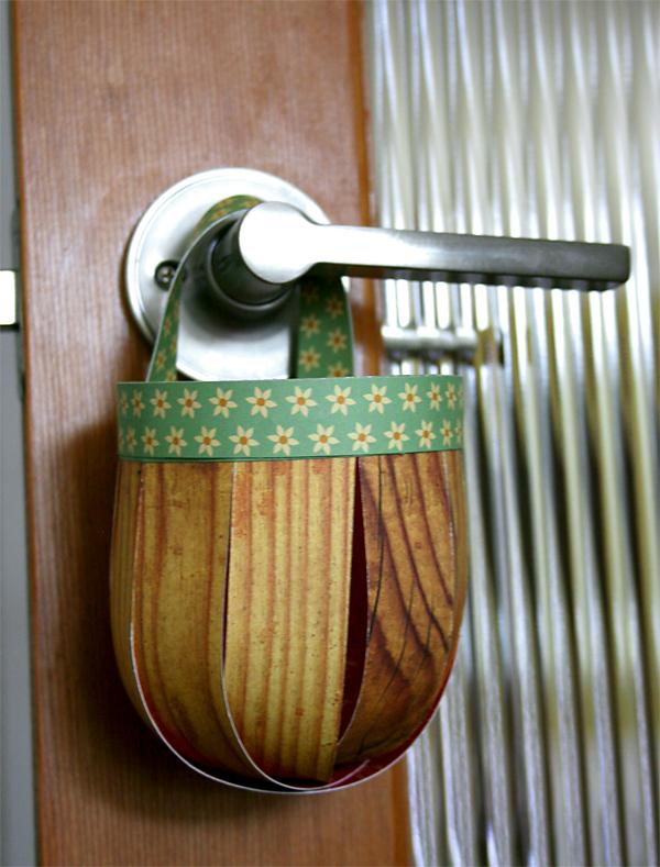 DIY Paper Hanging Basket   Cosmo Cricket