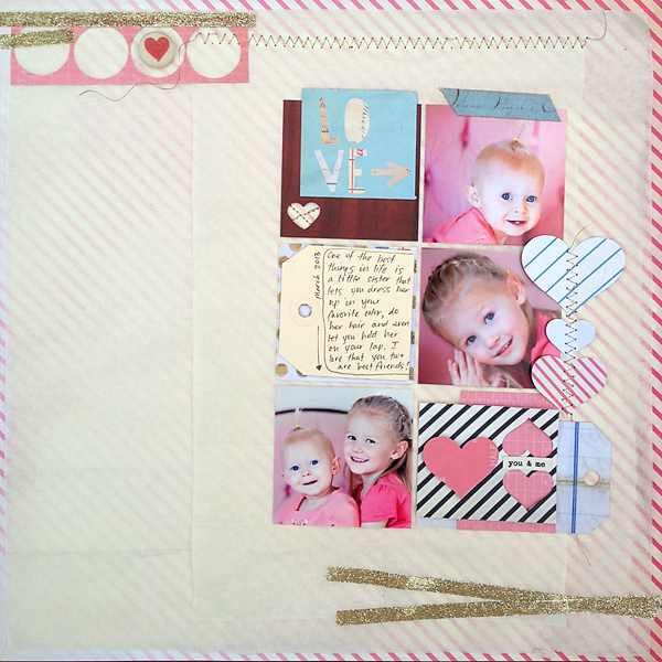 Using scraps and tissue paper in layouts | Julie Comstock