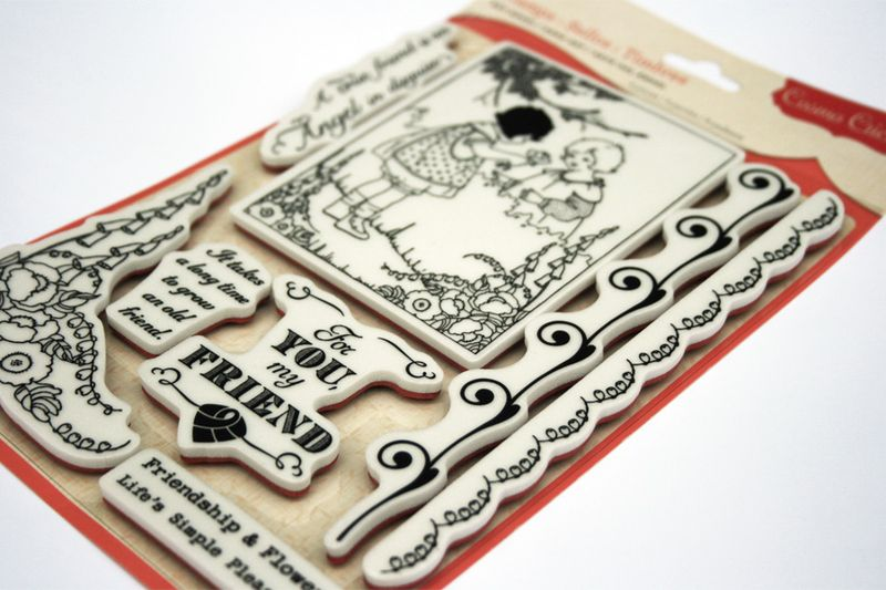Friendship stamps_cosmo cricket_art angel