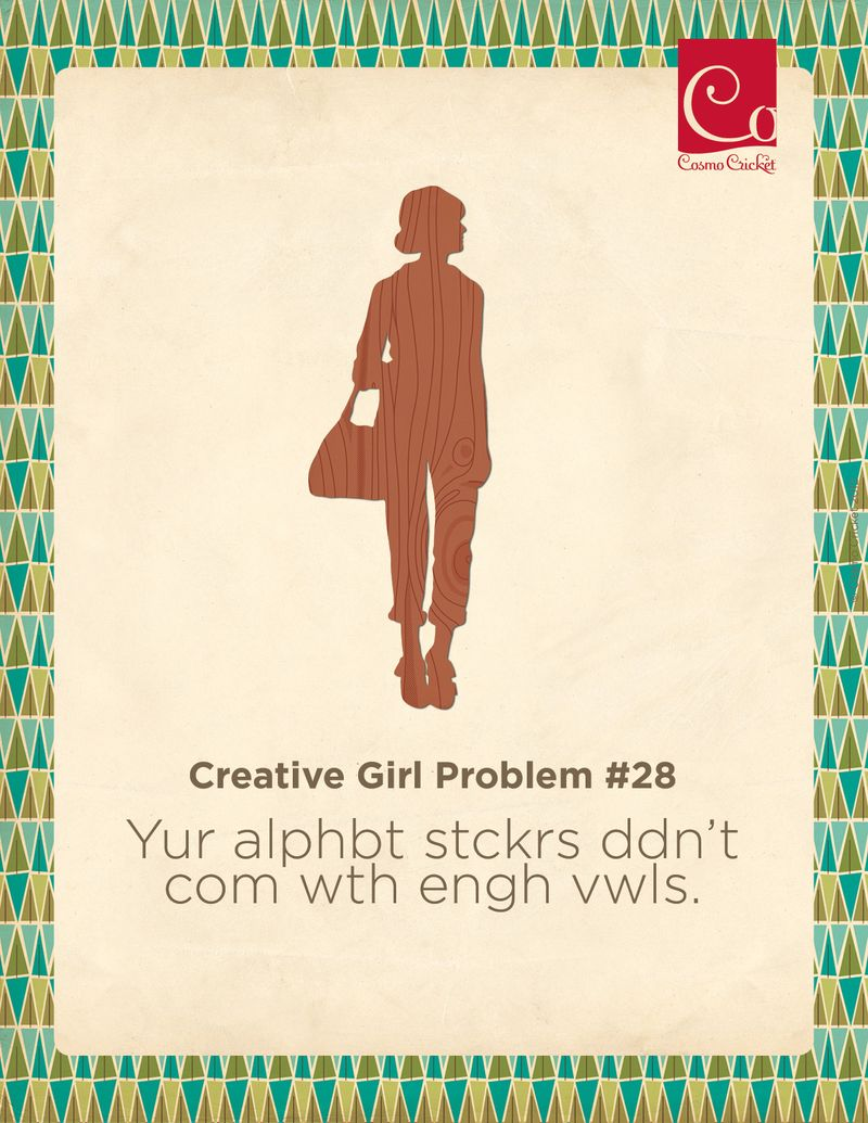 Creative Girl Problem #28 | Cosmo Cricket