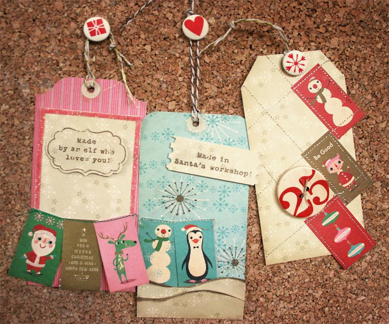 Whimsical christmas tags | Cosmo Cricket
