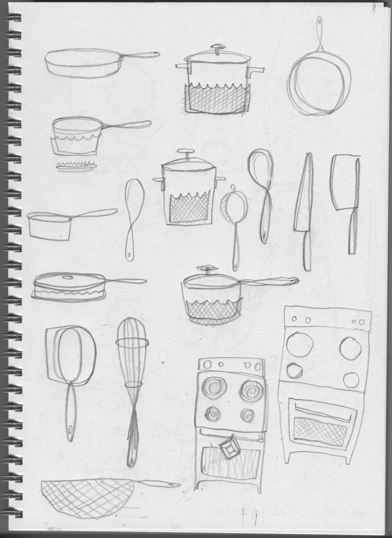 Eric Comstock Sketchbook for TV Dinner | Cosmo Cricket