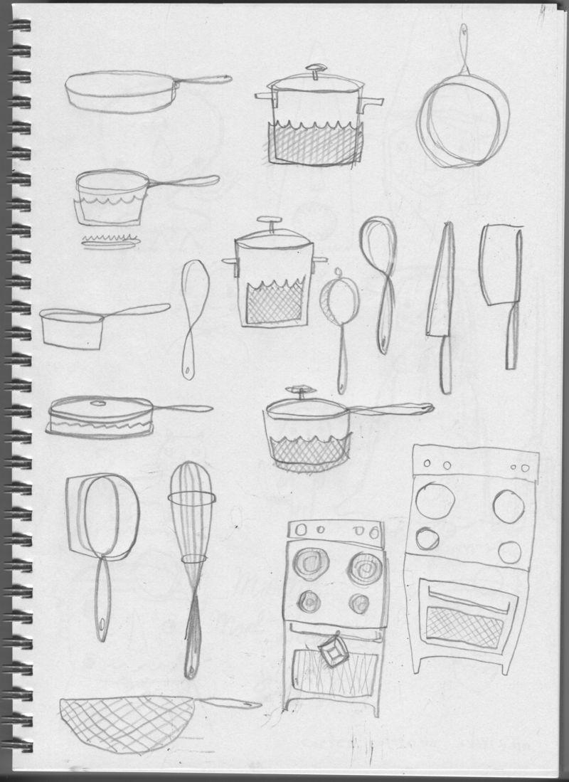 Eric Comstock Sketchbook for TV Dinner | Cosmo Cricket
