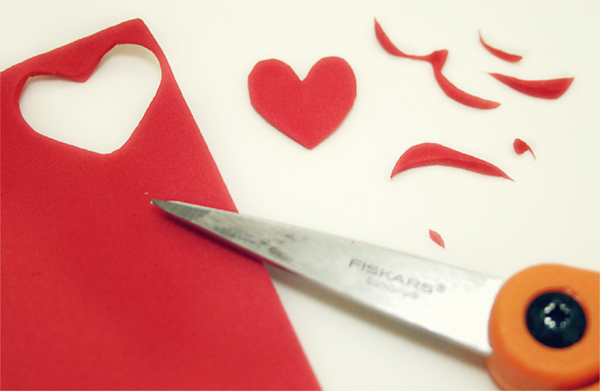 Foam Heart Stamp Creation | Cosmo Cricket