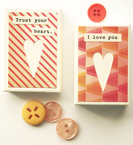Tiny Canvas | Valentine Craft | Cosmo Cricket