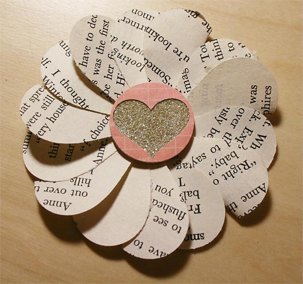 1%22 Paper Heart Petal Flower