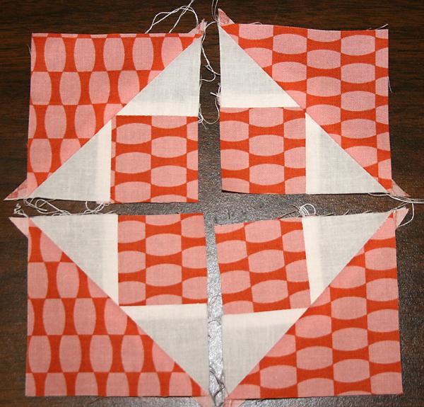 Sewing a quilt block copy