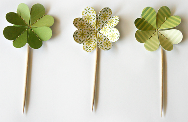 Shamrock Cupcake Toppers | Julie Comstock