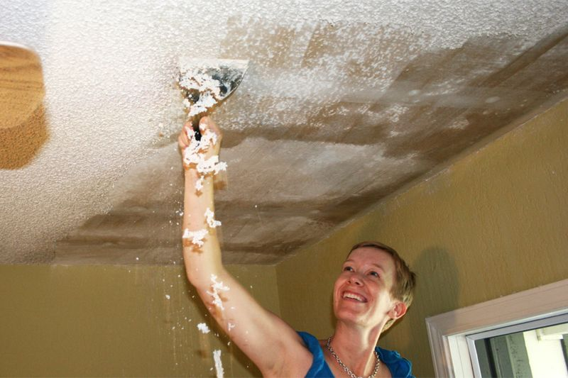 Scraping ceiling