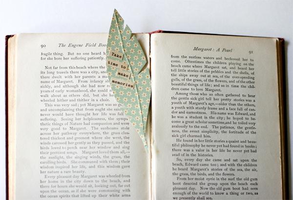 Feather Bookmark Tutorial   Cosmo Cricket
