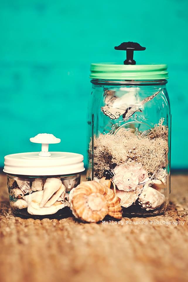 Seaside Mason Jars by Mallory Francks