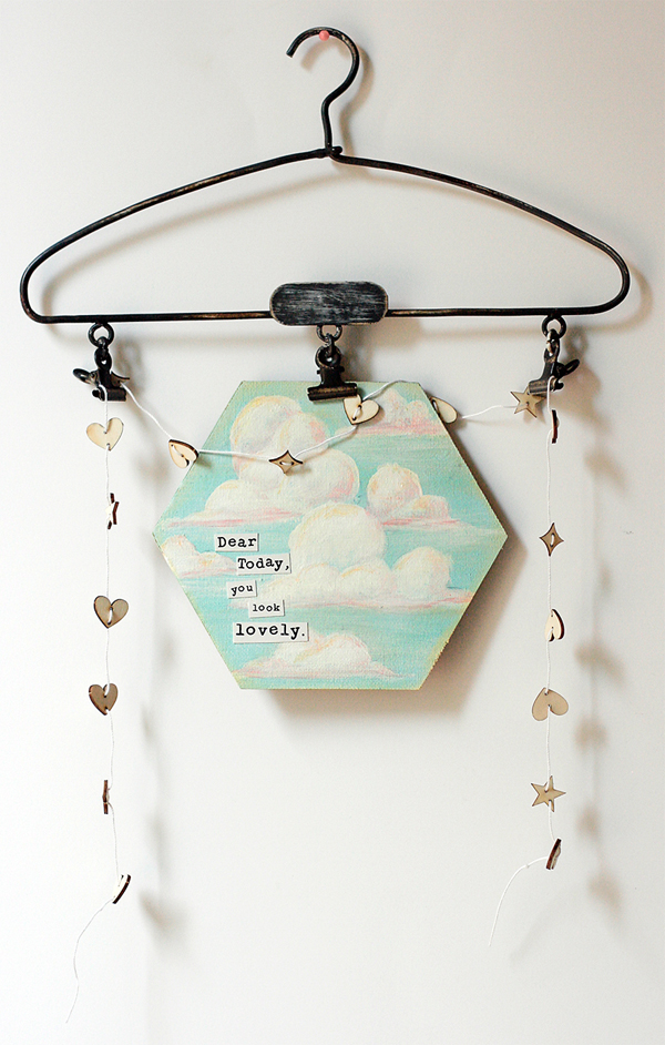 Wooden Garland & Painted Canvas | Cosmo Cricket