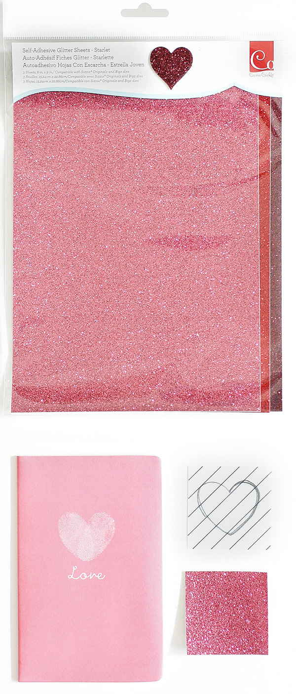 Adhesive Sheets of Glitter For Cute Notebooks