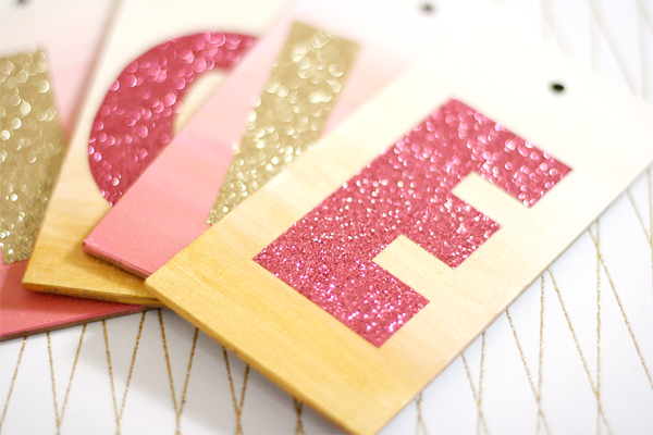 Canvas Tags and Glitter | Cosmo Cricket