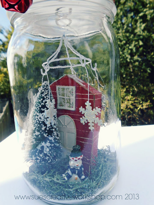 Winter Scene in Mason Jar | Sue'sCreativeWorkshop