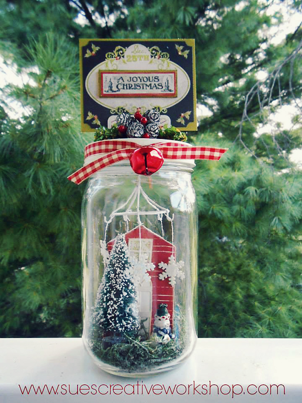 Winter Scene Jar | Sue's Creative Workshop copy