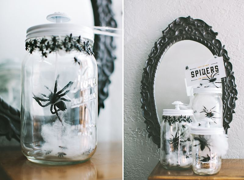 Spooky Mason Jars for Halloween by Cosmo Cricket